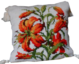 Il cuscino a fiori
