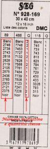 Un esempio di legenda dei colori da utilizzare e la quantità relativa