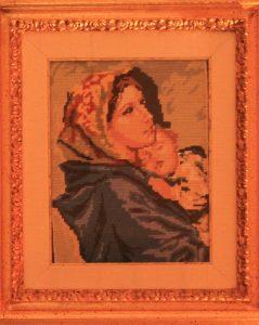 Arazzo con Madonna e Gesù Bambino